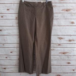 LOFT Petite Pinstripe Julie Trouser 4P